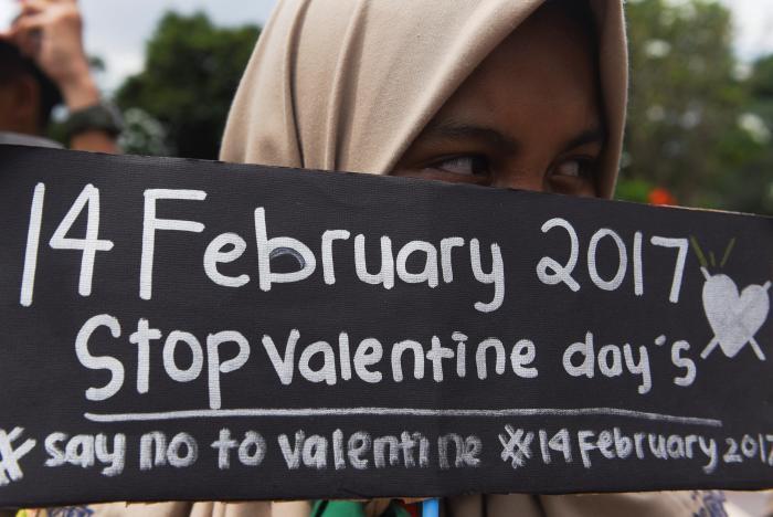 インドネシアでバレンタインデー反対
