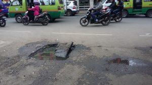 ジャカルタの道路