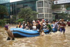 ジャカルタの洪水被害